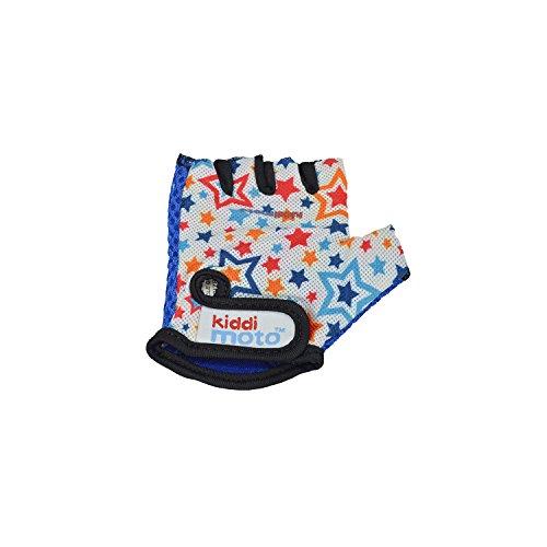 KIDDIMOTO GLV067M - Fahrrad Skater Handschuhe für Kinder Stars, Gr.M (5-12 Jahre)
