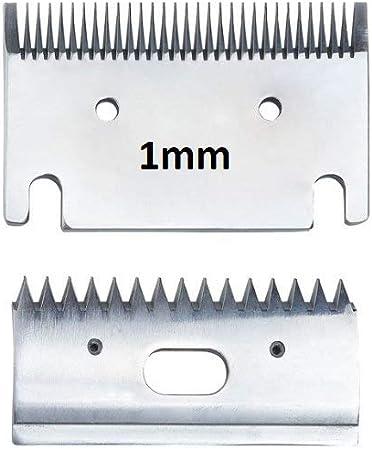 Folk Set de Cuchillas de Recambio para esquiladora FL6, 1 mm Grosor, 31 Dientes, 15 Dientes, 78 mm Caballos, Perros, burros, mulos (B - 1 Kit de Cuchilla y Peine 1 mm)