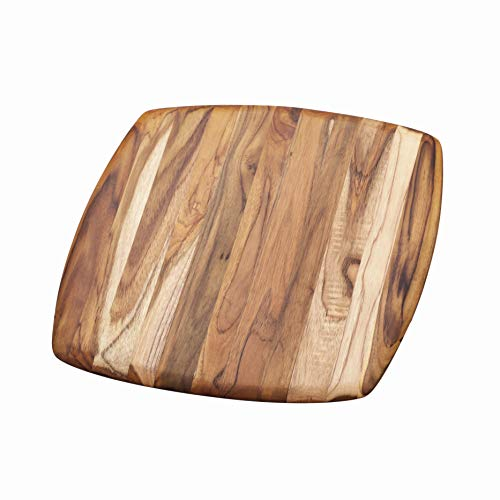Teak Wood Rectangle Chopping Block With Hand Grips and Juice Canal 6x21x1.5 Inches ProTeak 105 Teakhaus Cutting Board