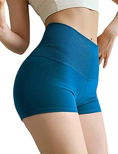 Angcoco Women's Hot High Waisted Tummy Control Workout Shorts