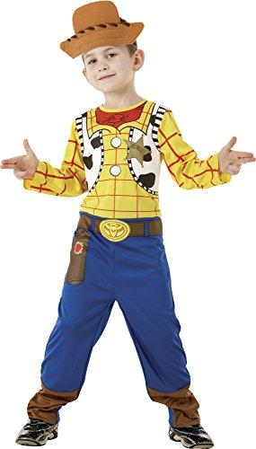 Toy Story - Disfraz de Woody clásico en caja para niño, infantil 5-7 años (Rubie