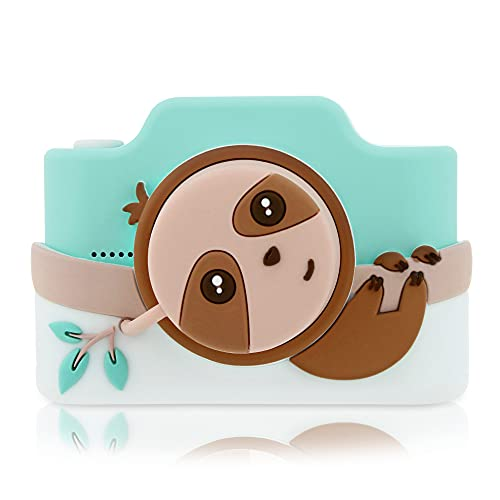 Kidamento 48MP Kids Digital Camera & Camcorder with Touchscreen, Soft BPA-Free Silicone Casing, WiFi & App, 32GB Memory Card - Model K - Sloth