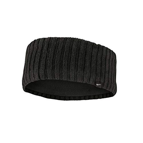 Nike Unisex - Knit Wide hoofdband, zwart/zilver, One Size