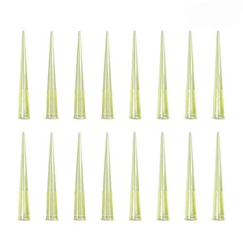 Pipette Tips 200 UL 1000 PCS Clear Yellow Laboratory Universal Plastic Liquid Pipette Pipettor Tips