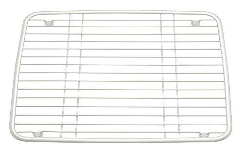 InterDesign Axis–Fregadero de Cocina con Ventosa Soporte para esponjas/Depuradores/jabón, Color Blanco Perla, Metal, Blanco Perla, Normal