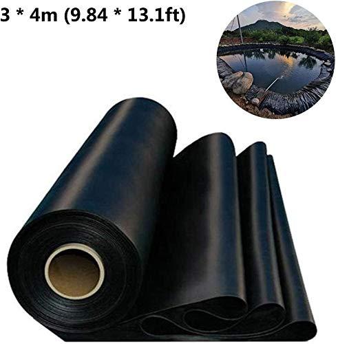 LuukUP Premium PE Teichfolie,Teichfolie 2 * 3m,3 * 4m,schwarz 0.2-0.3mm Stärke Teich Folie Gartenteich Bachlauf Plane reißfest, umweltfreundlich (3 * 4m)