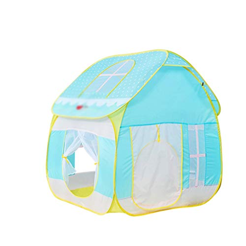 XZGang Children's Toy House, Blue babytent Boy Girl slaaptent baby Big House Tent Met Venster Children's Play House Ruimte voor kinderen (Size : 125 * 115 * 124CM)