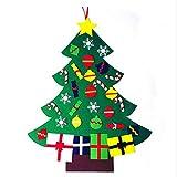 BRONG Fieltro Árbol de Navidad Colgando Decoraciones Conjuntos DIY Regalos de Navidad Decoración de la Pared de la Puerta del Hogar para