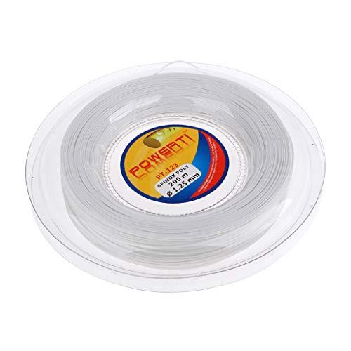 Milageto Raqueta de Tenis Premium 200 M Cuerdas de Raqueta Badminton Sport Reel Power Rough - Blanco, Tal como se Describe
