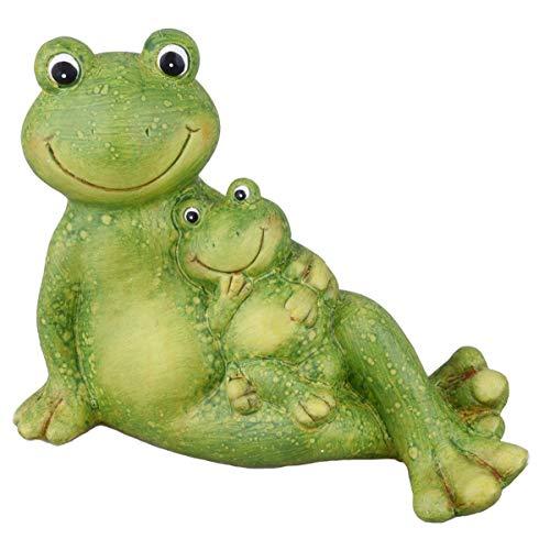 Dadeldo Home Frosch -Marta- Deko-Figur Keramik 12x16x8cm grün