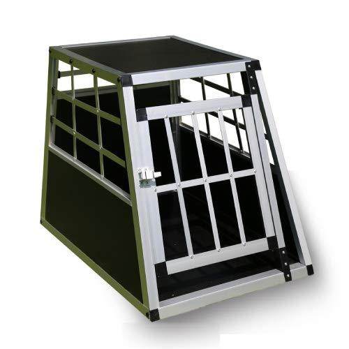 Trasportino Box Cofano Auto Cuccia per Cani Gatti Animali in Alluminio