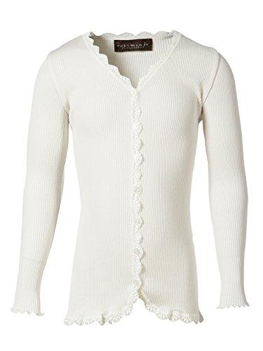 Rosemunde Copenhagen 59161 Langarm Cardigan Seide und Baumwolle (12 Jahre / 152, Weiß (1049 New White))