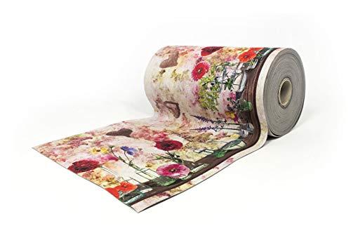SOFFICIOSO Tappeto Passatoia in Stampa Digitale da Cucina Antiscivolo E Antisfilo Dis. Fiore Ampolle 50x320 Ampolle