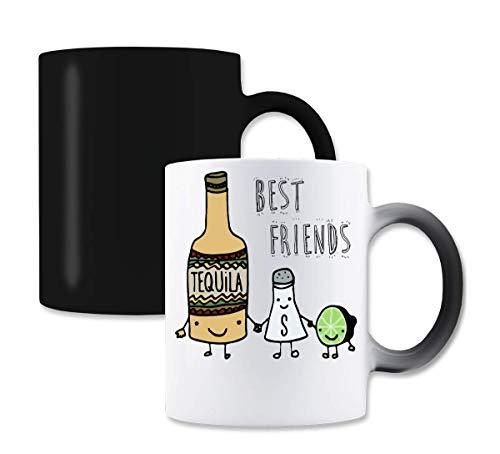 Best Friends Tequila Salt Lemon Magische kleur de thee-koffiemok verandert