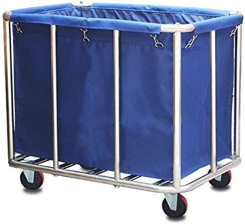 Dljyy Cart, Medical Cart, eetwagen, recoger, commercieel, Heavy Duty wasmand, soort wagen op wielen, Service Wagen Collector Trolley, afneembare tas, blauw