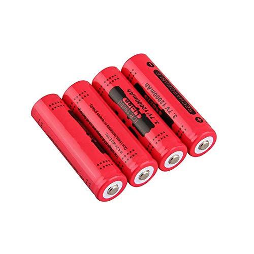 HTRN Batería De 18650 3.7v 12000mah, Recargable para La Batería De La Linterna 4pcs