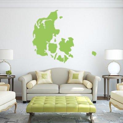 Denemarken kaart glas raam kerstversieringen posters muur tegen de ramen-ruiten de geel,