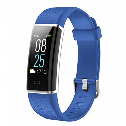 TOOBUR, Activity Tracker, orologio fitness tracker con cardiofrequenzimetro, contapassi, monitoraggio delle calorie e del sonno, impermeabile IP68, da uomo e da donna, Blue