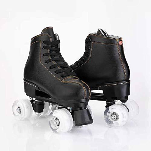 LRZ - Patines de alta velocidad con cuatro ruedas para hombres, mujeres y adolescentes, 38