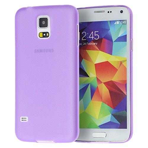 doupi UltraSlim Funda para Samsung Galaxy S5, Finamente Estera Ligero Estuche Protección, Morado