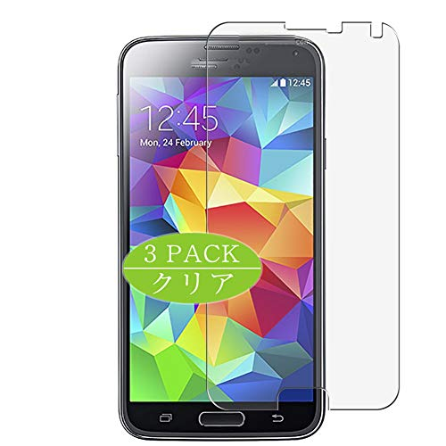 VacFun 3 Piezas Claro Protector de Pantalla, compatible con Samsung Galaxy S5 Plus G901F, Screen Protector Película Protectora(Not Cristal Templado) NEW Version