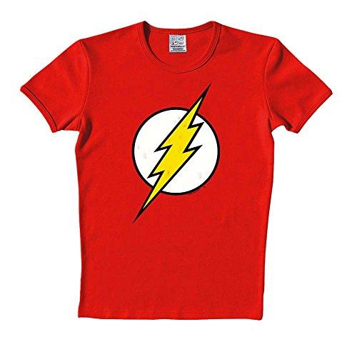 Logoshirt tee-dC comics flash logo t-shirt-rouge XL Rouge - Rouge