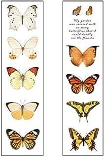 CAOLATOR Washi Tape Autocollants Papillon Adhésif Papier pour Journal Scrapbooking Artisanat de Bricolage Fournitures de f...