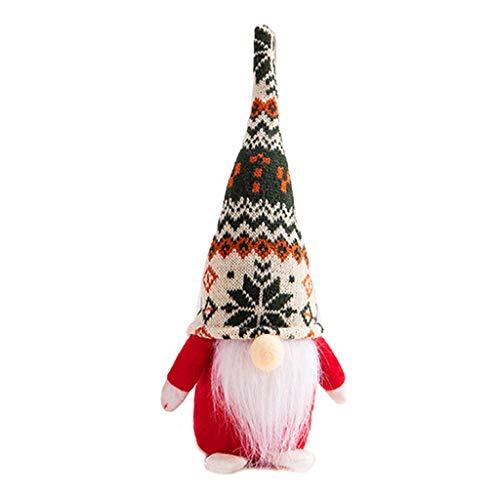 yasu7 Navidad Hecho a Mano Sueco gnomo Peluche muñeca Juguete niños Regalos decoración navideña, Juguete recién Nacido GIF