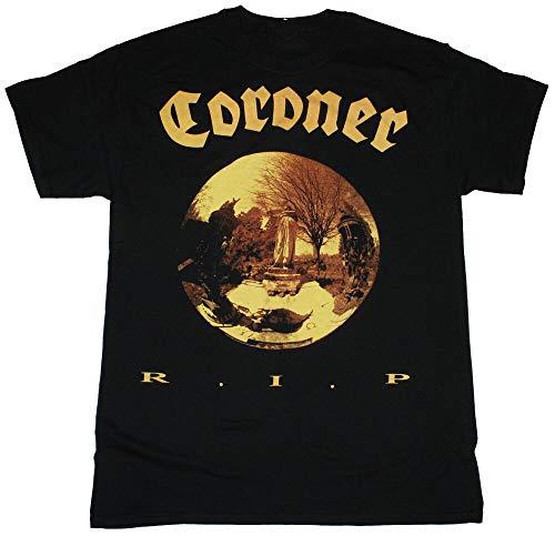 Coroner R.I.P. Thrash Metal Band Hellhammer Celtic Frost New Black T-Shirt