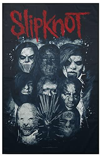 Slipknot Masks Unisex Flagge Multicolor 100prozent Polyester Band-Merch, Bands