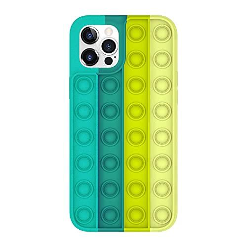ZYuan Empuje Caja Teléfono Juguete Burbuja Fidget Compatible con La Cubierta del Arco Iris del Silicón Suave 3D De La Funda del Arco Iris del Tirón (Color : F, Size : 11 Pro)