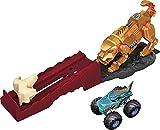 Pista de Juguete Hot Wheels Monster Trucks Enfrentamiento con Sabretooth™ (Mattel GYL10)
