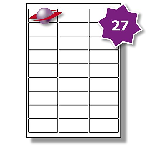 27 Per Page/Sheet, 100 Sheets (2700 Sticky Labels), Amazon FBA Compatible...
