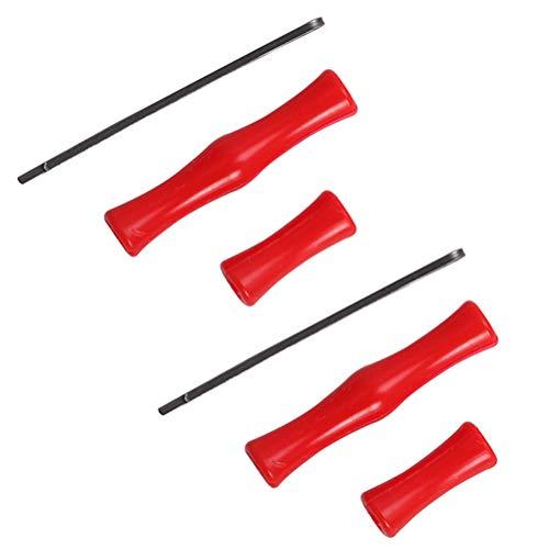 GAOJIAN 2 Juegos de Protector de Dedos de Arco para Flechas Rodillo de Silicona Arco recurvo Tiro con Arco Tiro con Arco Equipo de protección