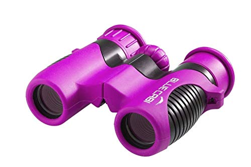 BlueCabi Shock Proof 8x21 Kids Binoculars - High Resolution Real Optics Childrens Compact Binocular Set - Great for Science, Bird Watching, Outdoor Play, Travel, and Gifts for Boys & Girls
