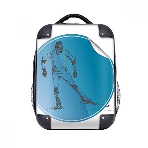 """DIYthinker Wintersport Ski und Schuhe Illustration Hard Case Schulter Kind-Rucksack-Geschenk 15\"""""""