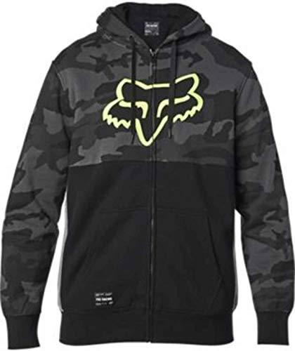 Fox Racing Sudadera con capucha Sherpa estándar para hombre, tamaño mediano, camuflaje negro