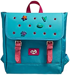 Tinc Buds Satchel Backpack with Holes for Collectable Characters. - Blue (Pink/Zip) Mochila Infantil, 35 cm, 7.1 Liters, Azul (Blue)