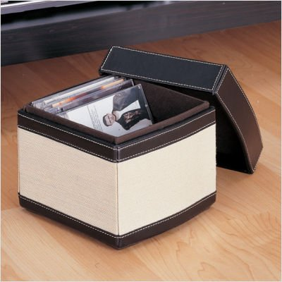 Neu Home Organize It All Jute Stackable CD Box with Lid