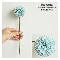 フェイクフラワ 1ピース29cm人工的なタンポポの花のシルクヒヤシンスの花の結婚式の装飾のためのホームパーティーの庭の装飾 造花 (Color : Mint Green)