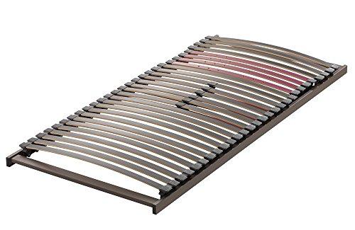 shogazi  Schlafkultur Lattenrost Aviono S, 8 cm hoch, metallfrei, 28 Buche-Federleisten, Schulterkomfortzone und einstellbarer Beckenbereich, Größe:80x200