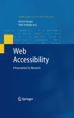 Web Accessibility: A Foundation For Research (Human–Computer Interaction Series)
