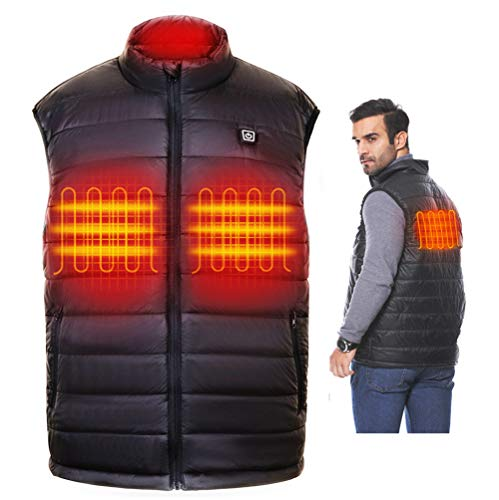 TAJARLY Heated Vest Lightweight-Washable Heated Vests for Men with Battery Pack
