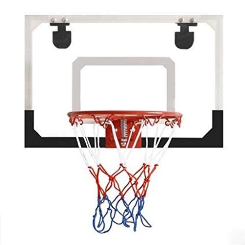 Durable Set de Canasta de Baloncesto Para Niños 18x11 Pulgadas Aro de Baloncesto Interior con Bolas y Accesorios de Baloncesto Completo Resistente a la Rotura Completo Accesorios ( tamaño : Black )