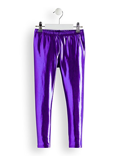 RED WAGON Mädchen Leggings Metallic Dance Party, Violett (Purple), 4Jahre