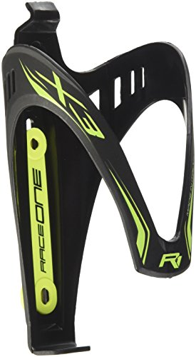 Raceone matt X3 RACE, Portaborraccia per Bicicletta, Ideale per Bici Race, Nero/Giallo (matt BLACK/YELLOW FLUO)