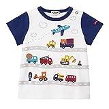 [ミキハウス ホットビスケッツ] Tシャツ 72-5213-457 (80cm, 白)