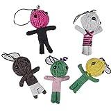 Beaucoup 5pcs Style vaudou Porte-clés Petit Voodoo Poupées Accessoires pour Enfants Cadeaux