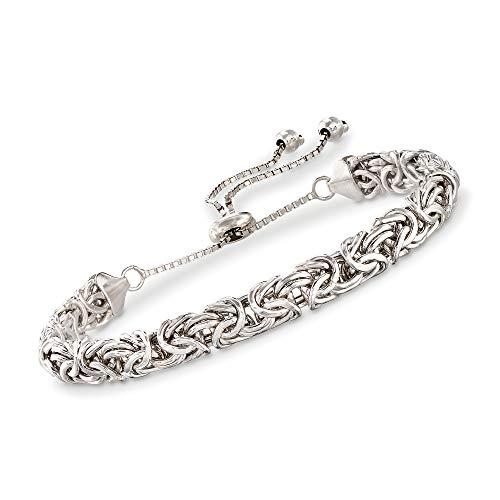 Ross-Simons 0.925 Sterling Silver Byzantine Bolo Bracelet