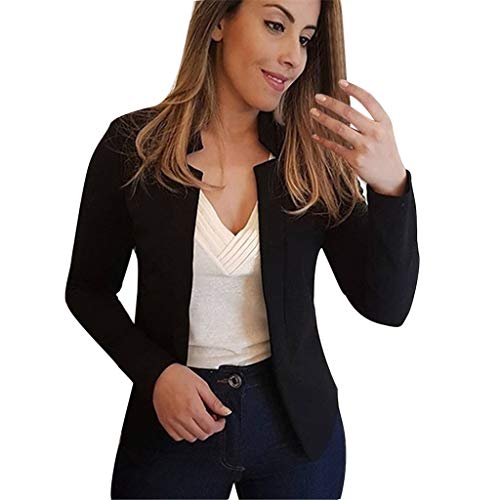 Sakkos MäDchen Suit Pumps Elegant Blazer Cardigan Office Jacket Jacke DüNn Geraffte ÄRmel Elegant Sakkos Leicht DüNn Leichte Jacke Business Teile Dress Coat